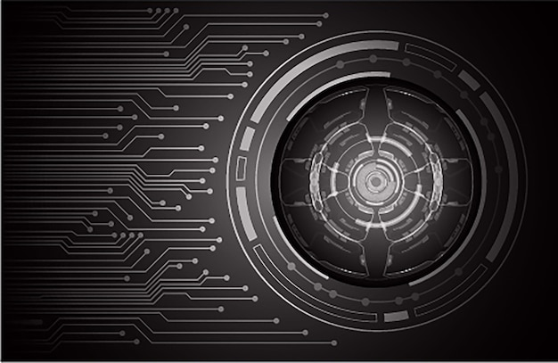 Black eye cyber circuit toekomstige technologie concept achtergrond