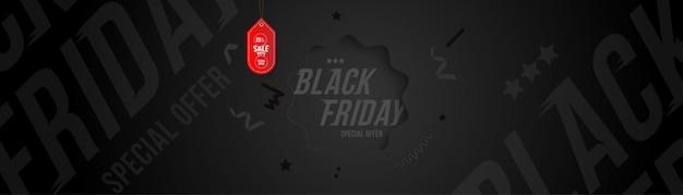 Black friday 25% korting op korting banner en flyer.