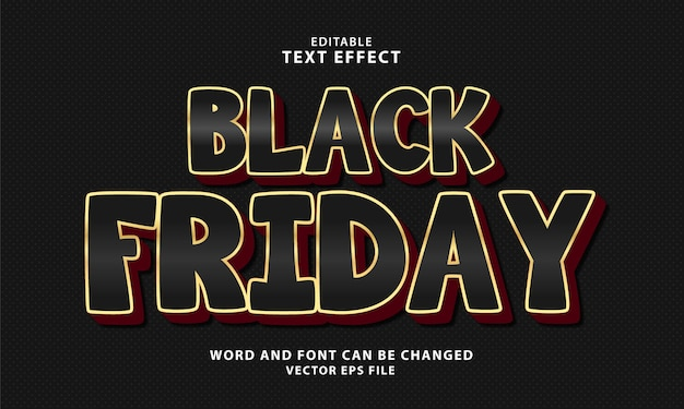 Black friday 3d bewerkbaar teksteffect