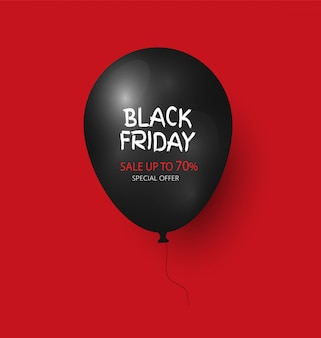 Black friday ballonpictogram tot 70 procent korting