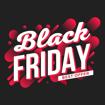 Black friday-banner abstracte achtergrond