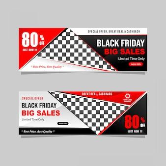 Black friday banner design collectie