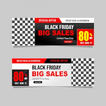 Black friday banner korting collectie