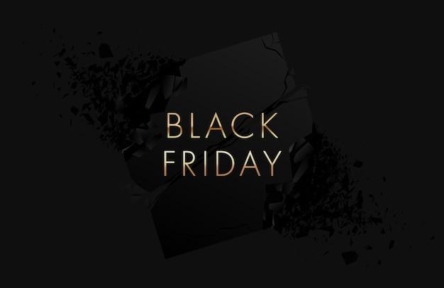 Black friday-banner met explosie-effect
