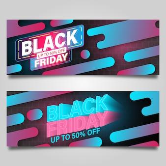 Black friday banner ontwerpsjabloon. vector illustratie
