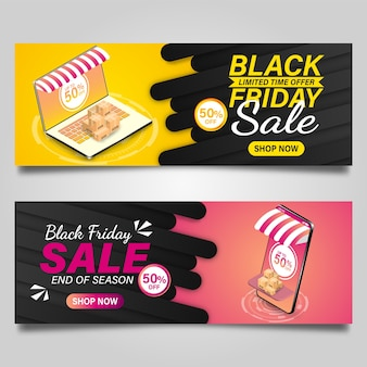 Black friday banner ontwerpsjabloon.