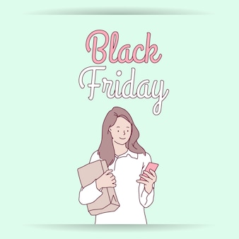 Black friday banner super sale discount shop nu online