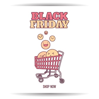 Black friday-banner super sale-kortingswinkel nu thuis