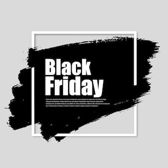 Black friday-banner van zwarte verf