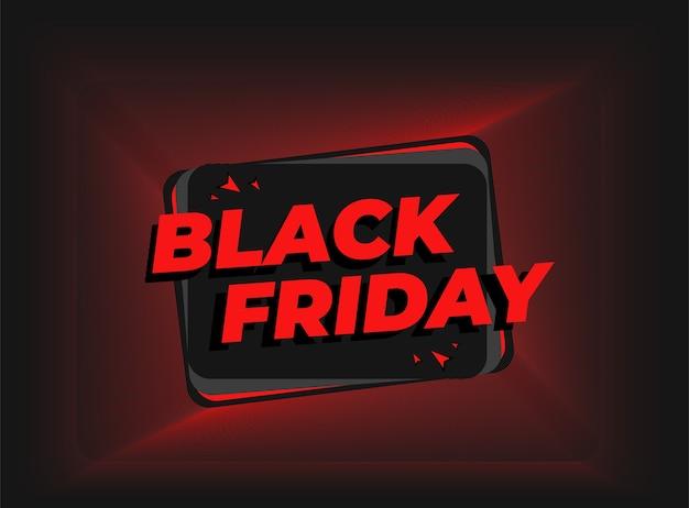 Black friday-bannerontwerp in rode en zwarte kleur, gebruik deze sjabloon om uw korting of promoproductverkoop op website en maketplace te stimuleren Premium Vector