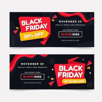 Black friday banners met korting