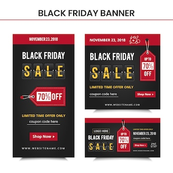Black friday banners-sjabloon