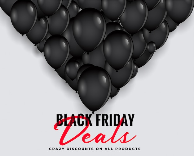 Black friday behandelt achtergrond met ballonnen