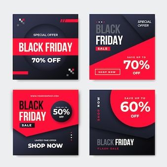 Black friday-bericht op sociale media