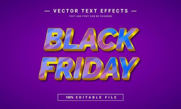 Black friday bewerkbaar lettertype-effectontwerp