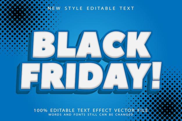 Black friday bewerkbaar teksteffect in reliëf in moderne stijl
