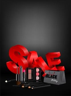 Black friday-boodschappentascosmetica en marketing malplaatje