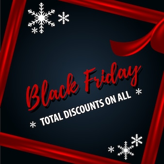 Black friday christmas sale-sjabloon