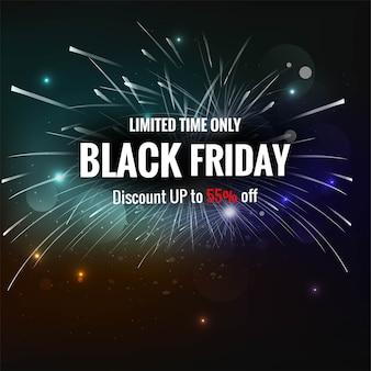 Black friday exclusieve verkoopposter creatief