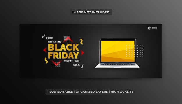 Black friday facebook cover banner ontwerpsjabloon