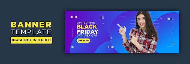 Black friday facebook of social media banner ontwerp