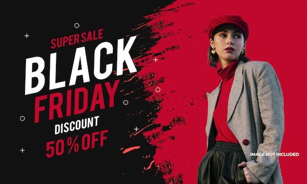 Black friday fashion sale banner moderne promotionele achtergrond