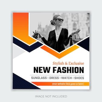 Black friday fashion social media post-sjabloon voor spandoek