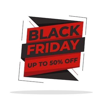 Black friday flat design template banner voor uw promotieverkoop. website verkoopsjabloon. online winkel. materiaal. verkoop achtergrond.
