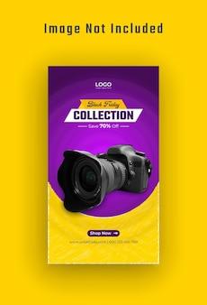 Black friday gadget sale instagramverhaal en webbanner premium vector