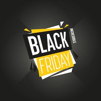 Black friday-geïsoleerde de vector van de verkoopsticker