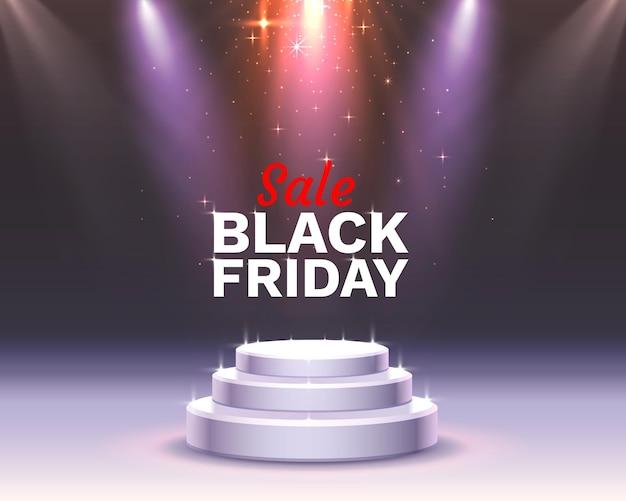 Black friday grote verkoop, seizoensgebonden bannerverkoop. vector illustratie