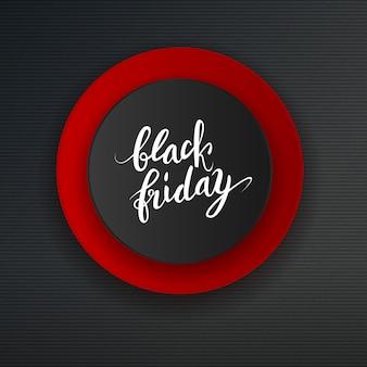 Black friday grote verkoopadvertentie