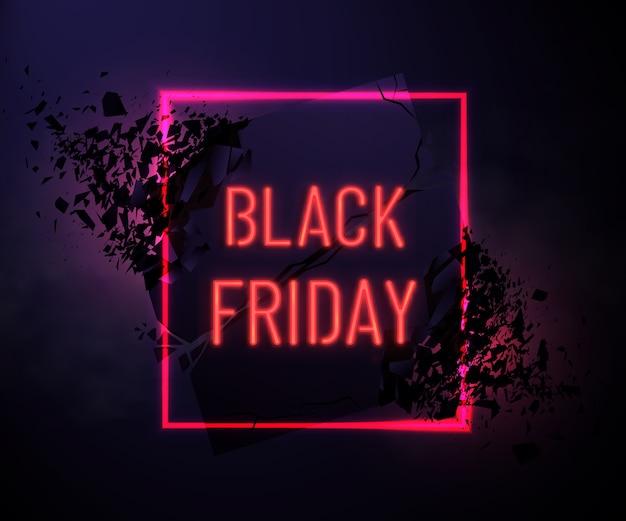 Black friday-het ontwerp van de verkoopinschrijving