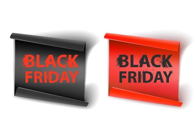 Black friday-inschrijving op een baksteenachtergrond concept verkoopopruiming en korting
