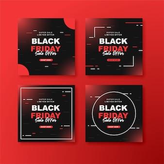 Black friday instagram postverzameling a