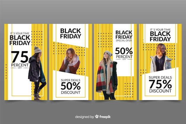 Black friday instagram-verhalencollectie