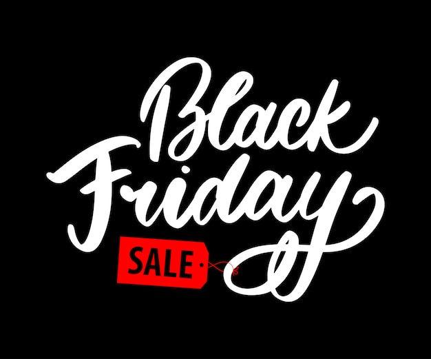 Black friday kalligrafische letters