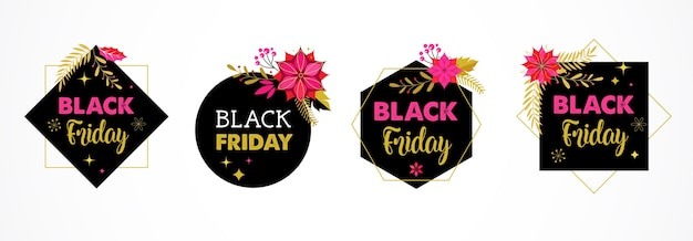 Black friday, kerst verkoop banner