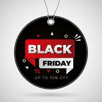 Black friday-label met kortingen