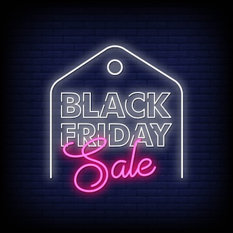 Black friday neon-tekens stijltekst