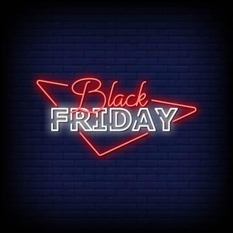 Black friday-neontekensstijl
