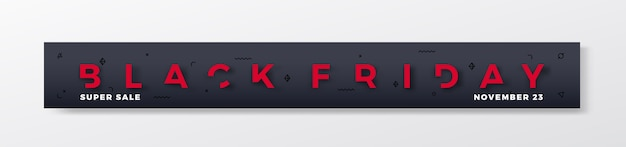 Black friday premium banner of koptekst.
