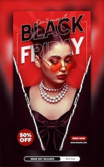 Black friday promo social media post verhaalsjabloon