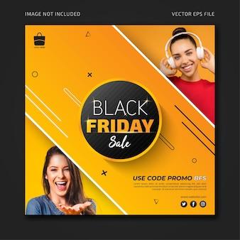 Black friday promotie verkoop social media banner sjabloon