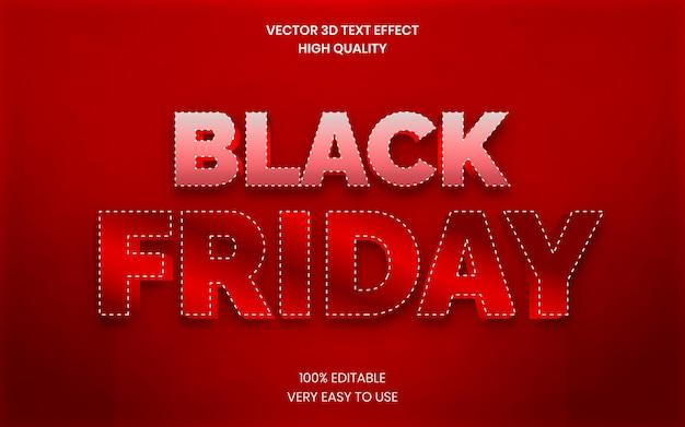 Black friday sale 3d-tekststijleffectsjabloon premium vector
