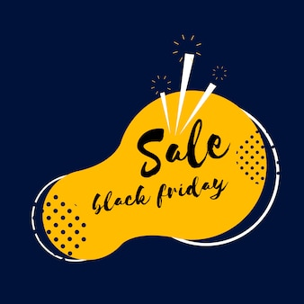 Black friday sale badge vector