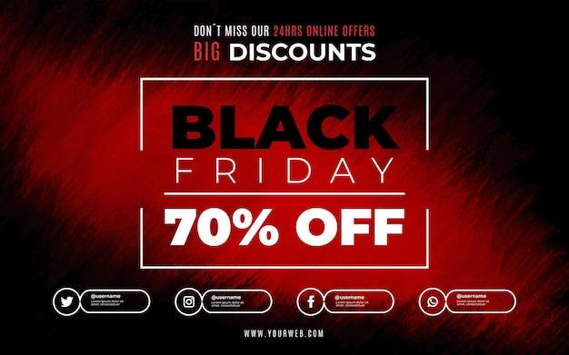 Black friday sale met rode vlek
