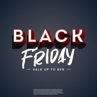 Black friday sale poster op zwarte achtergrond. retro stijl