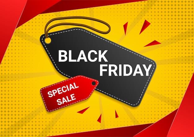 Black friday sale prijskaartje ontwerp