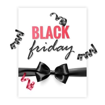 Black friday sale-promotieposter of banner in zwarte en rode stijl promotie- en winkelsjabloon